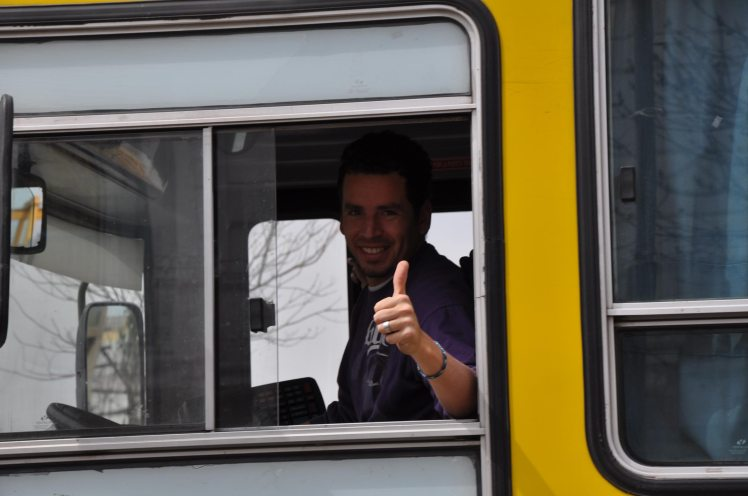Motorista de onibus em Buenos Aires