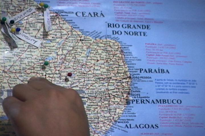 Mapa região nordeste